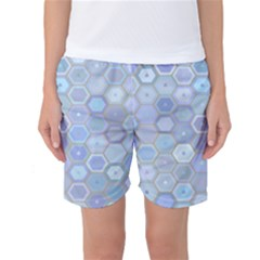 Bee Hive Background Women s Basketball Shorts