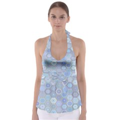 Bee Hive Background Babydoll Tankini Top
