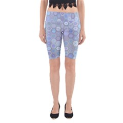 Bee Hive Background Yoga Cropped Leggings