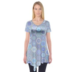 Bee Hive Background Short Sleeve Tunic