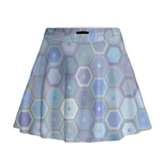 Bee Hive Background Mini Flare Skirt