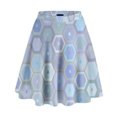 Bee Hive Background High Waist Skirt