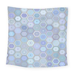 Bee Hive Background Square Tapestry (large)