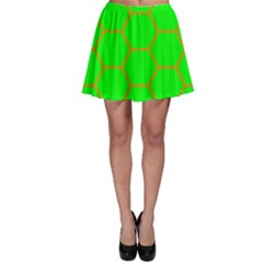 Bee Hive Texture Skater Skirt