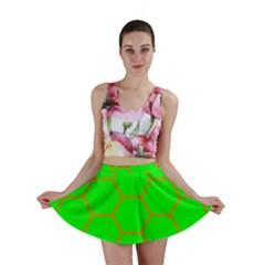 Bee Hive Texture Mini Skirt