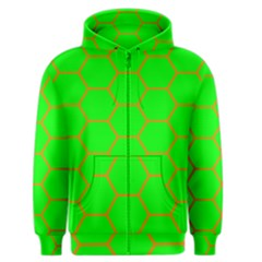 Bee Hive Texture Men s Zipper Hoodie