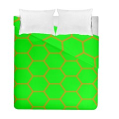 Bee Hive Texture Duvet Cover Double Side (full/ Double Size)