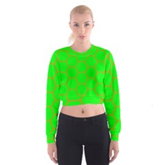 Bee Hive Texture Women s Cropped Sweatshirt