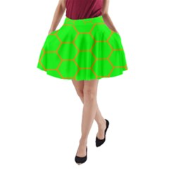 Bee Hive Texture A-Line Pocket Skirt