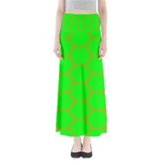 Bee Hive Texture Maxi Skirts