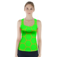 Bee Hive Texture Racer Back Sports Top