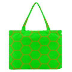 Bee Hive Texture Medium Zipper Tote Bag