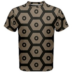 Black Bee Hive Texture Men s Cotton Tee
