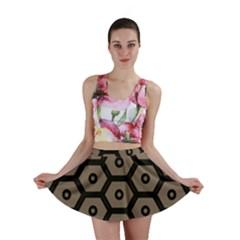 Black Bee Hive Texture Mini Skirt