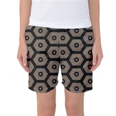 Black Bee Hive Texture Women s Basketball Shorts