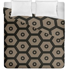 Black Bee Hive Texture Duvet Cover Double Side (king Size)