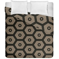 Black Bee Hive Texture Duvet Cover Double Side (california King Size)