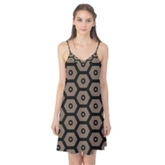 Black Bee Hive Texture Camis Nightgown