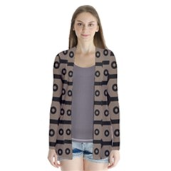 Black Bee Hive Texture Cardigans