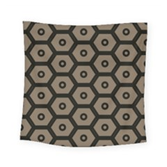 Black Bee Hive Texture Square Tapestry (small)