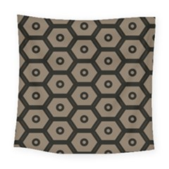 Black Bee Hive Texture Square Tapestry (large)