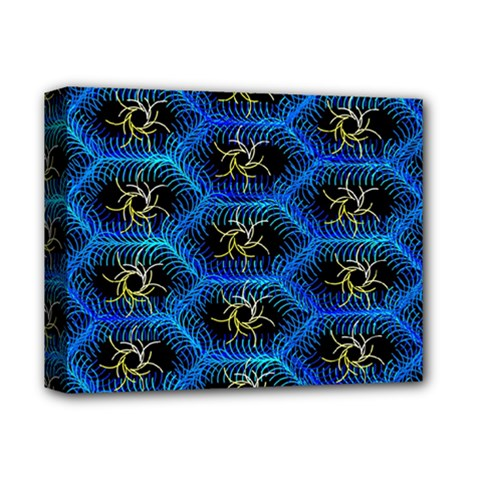 Blue Bee Hive Deluxe Canvas 14  X 11