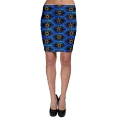 Blue Bee Hive Bodycon Skirt