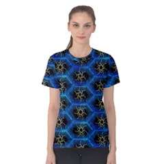 Blue Bee Hive Women s Cotton Tee