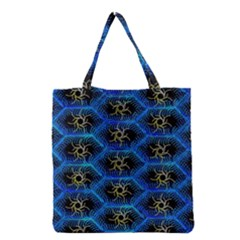 Blue Bee Hive Grocery Tote Bag