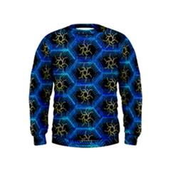 Blue Bee Hive Kids  Sweatshirt