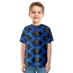 Blue Bee Hive Kids  Sport Mesh Tee