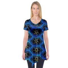 Blue Bee Hive Short Sleeve Tunic