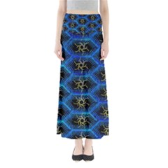 Blue Bee Hive Maxi Skirts