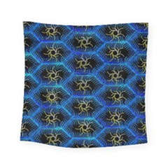 Blue Bee Hive Square Tapestry (small)