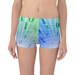 Blue Binary Background Binary World Binary Flow Hand Boyleg Bikini Bottoms