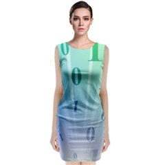 Blue Binary Background Binary World Binary Flow Hand Classic Sleeveless Midi Dress