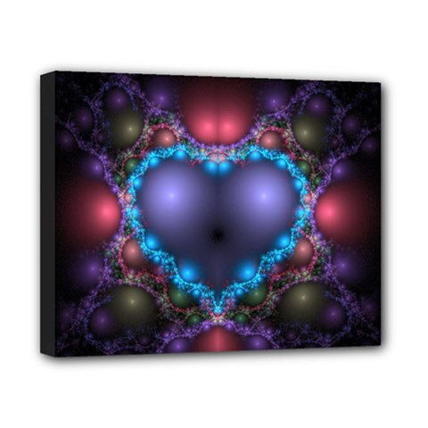 Blue Heart Canvas 10  X 8