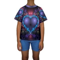 Blue Heart Kids  Short Sleeve Swimwear