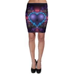 Blue Heart Bodycon Skirt
