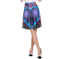 Blue Heart A Line Skirt