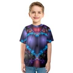 Blue Heart Kids  Sport Mesh Tee