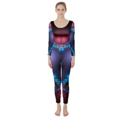 Blue Heart Long Sleeve Catsuit