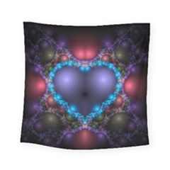 Blue Heart Square Tapestry (small)