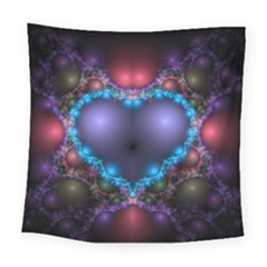 Blue Heart Square Tapestry (large)