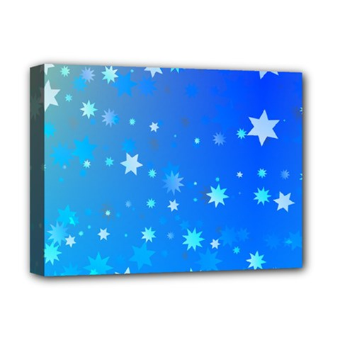 Blue Hot Pattern Blue Star Background Deluxe Canvas 16  X 12