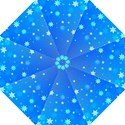 Blue Hot Pattern Blue Star Background Hook Handle Umbrellas (Small) View1