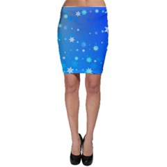 Blue Hot Pattern Blue Star Background Bodycon Skirt