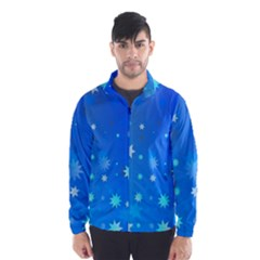 Blue Hot Pattern Blue Star Background Wind Breaker (men)