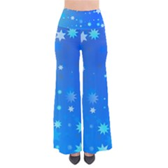 Blue Hot Pattern Blue Star Background Pants