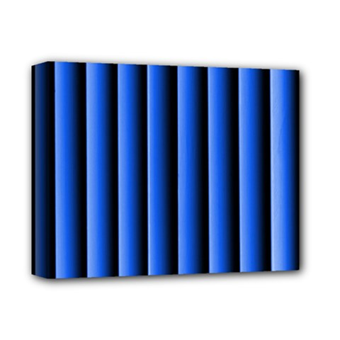 Blue Lines Background Deluxe Canvas 14  X 11